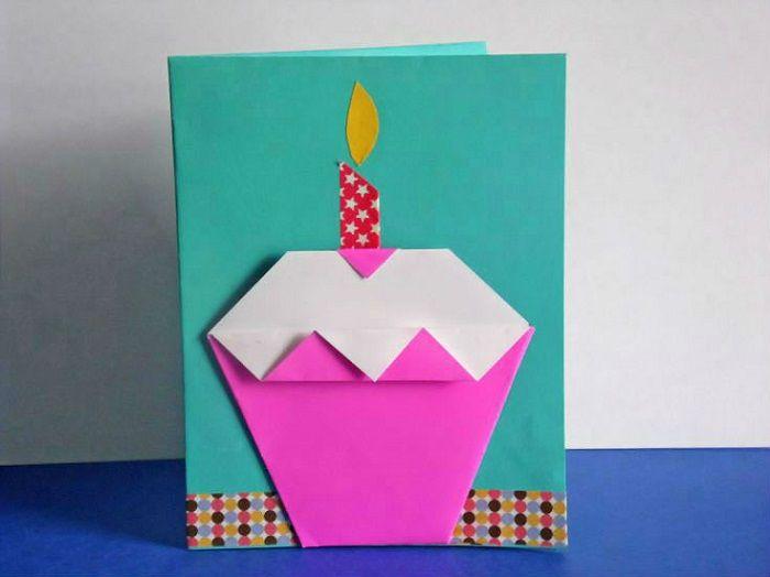 Открытка оригами из бумаги