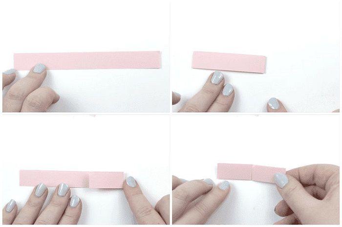 Браслет оригами: этапы складывания 1-4
