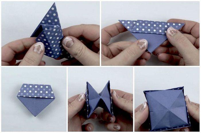 Коробочка из крафт-бумаги: шаги 22-26
