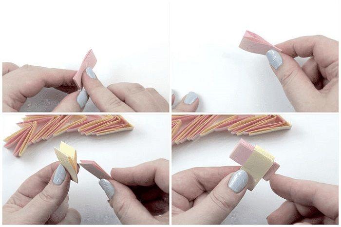 Браслет оригами: этапы складывания 5-8