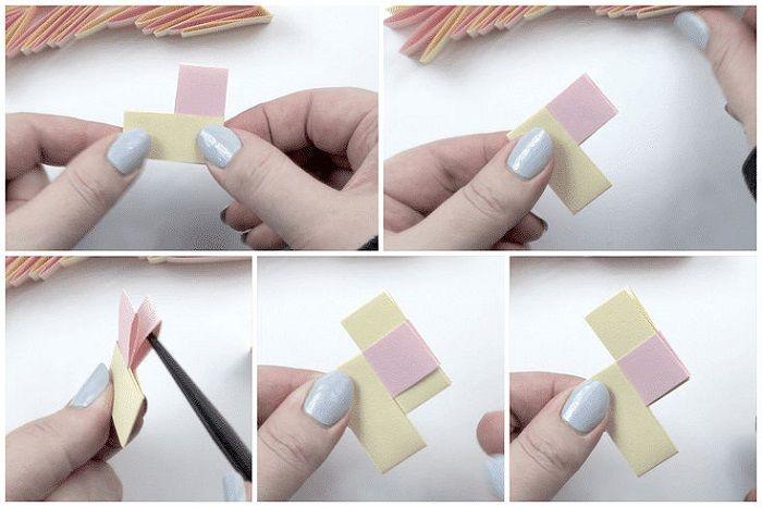 Браслет оригами: этапы складывания 9-13
