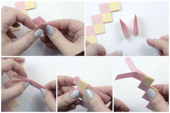 Браслет оригами: этапы складывания 14-18