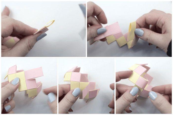 Браслет оригами: этапы складывания 19-23