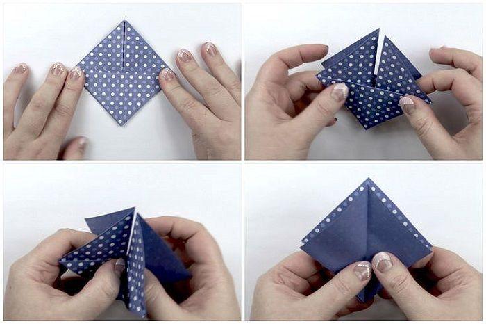 Коробочка из крафт-бумаги: шаги 6-9