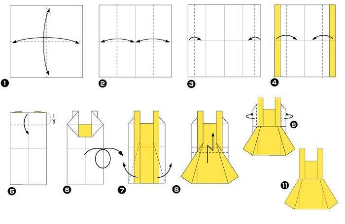 Сарафан (схема складывания)