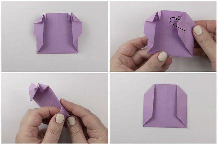 Сумочка оригами: этапы складывания 17-20