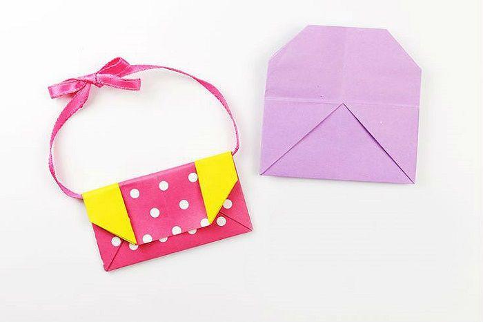 Стильная сумочка из бумаги