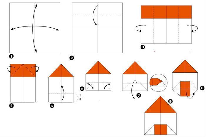 Дом оригами (схема)