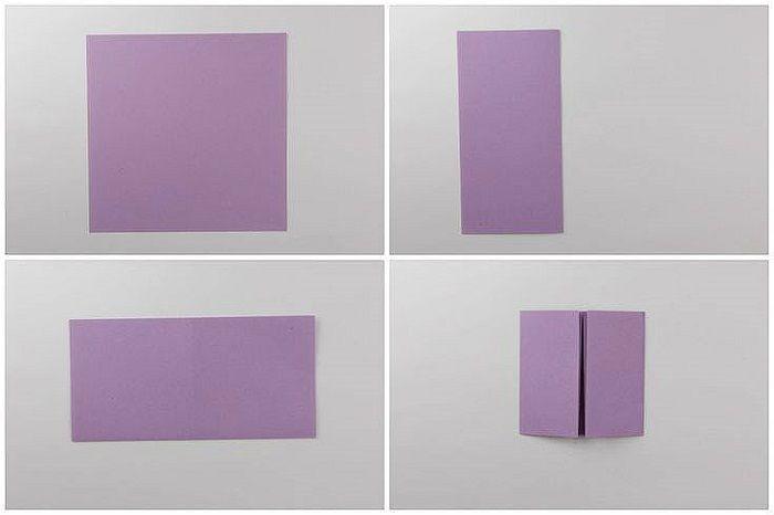 Сумочка оригами: этапы складывания 1-4