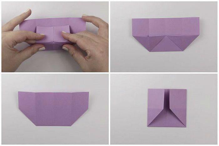 Сумочка оригами: этапы складывания 9-12
