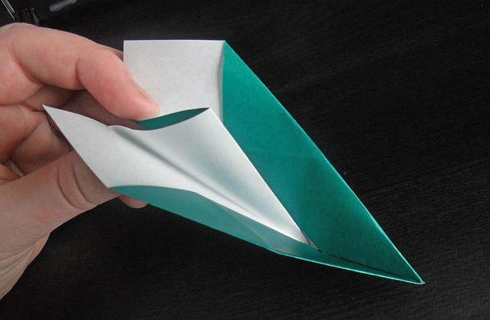 Самолетик оригами: этапы складывания 5