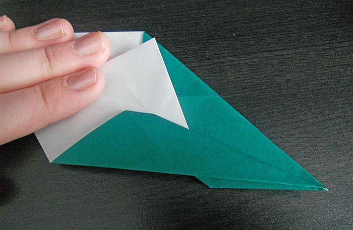 Самолетик оригами: этапы складывания 6