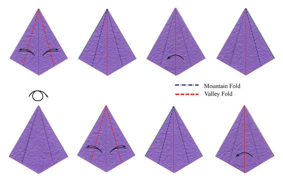 Изысканный ирис-оригами 2