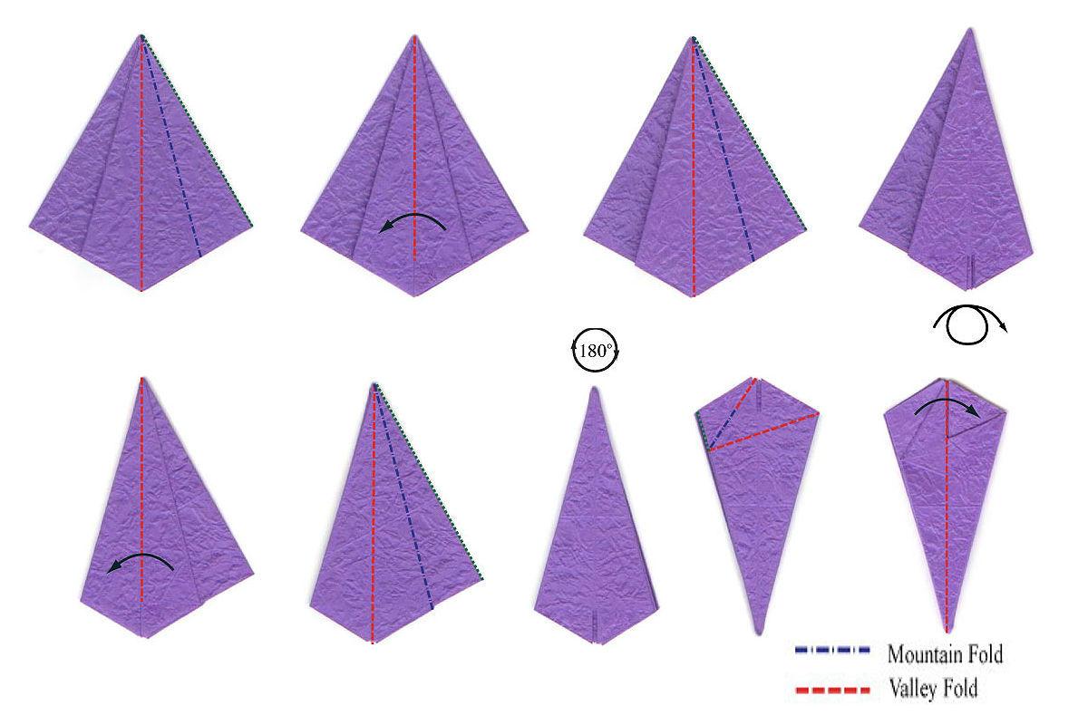 Изысканный ирис-оригами 3