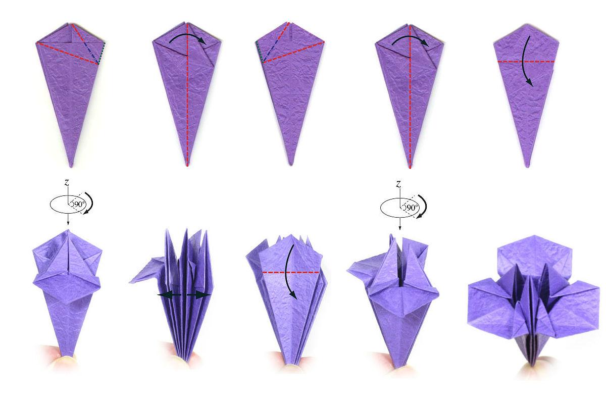 Изысканный ирис-оригами 4