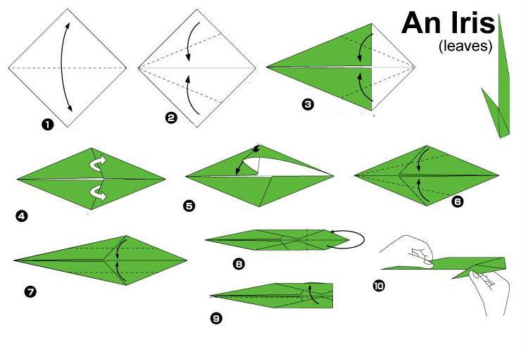 Изысканный ирис-оригами 6