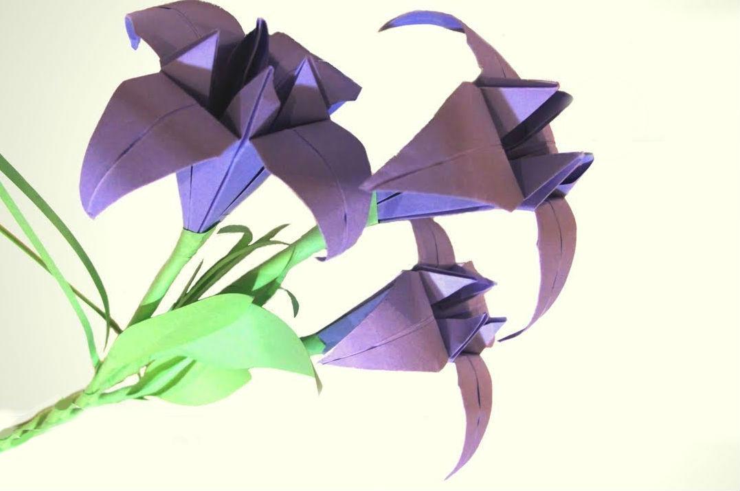 Изысканный ирис-оригами 8