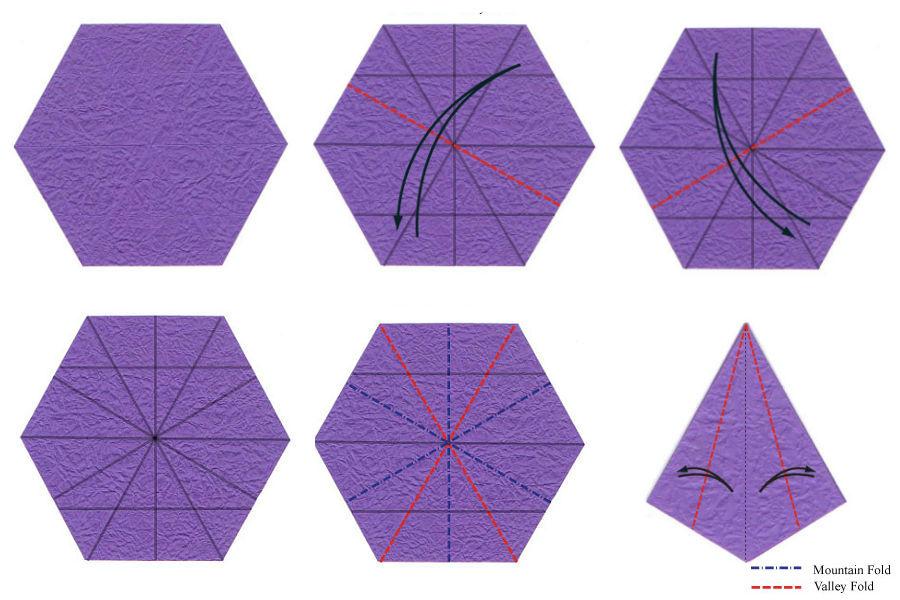 Изысканный ирис-оригами 1