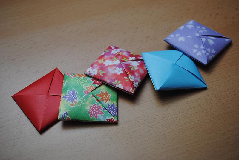 Готовые конверты-оригами «мэнко»