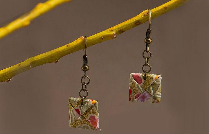 Конверты-оригами «мэнко» на ветке