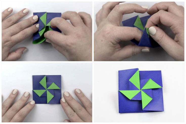 Пошаговая сборка оригами конверта