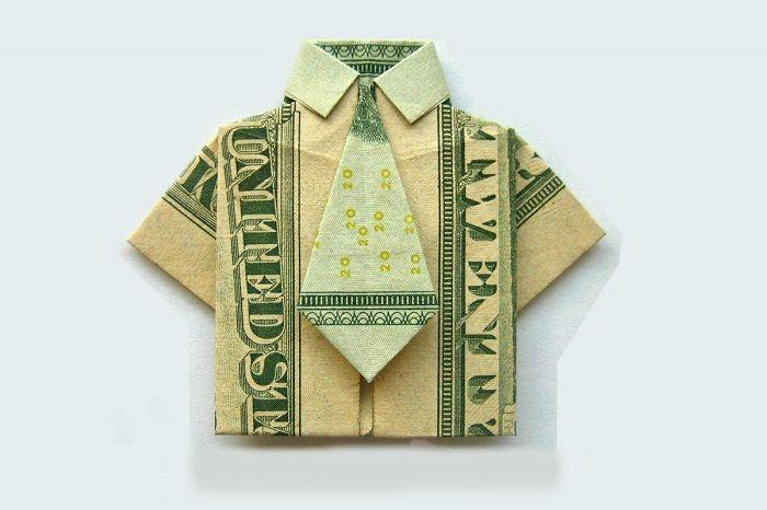 Оригами из банкнот