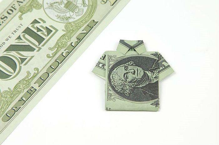 Рубашка из банкноты