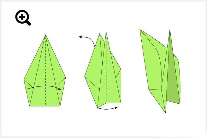Как сложить объемный тюльпан: шаг 23