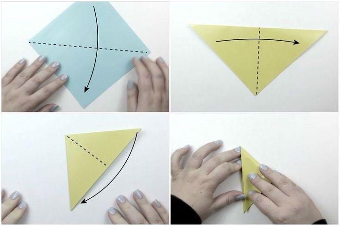 Как сложить из бумаги пентакль: шаги 1-4