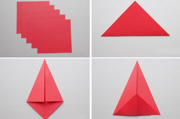 Как сложить звезду в форме кольца: этапы складывания 1-4