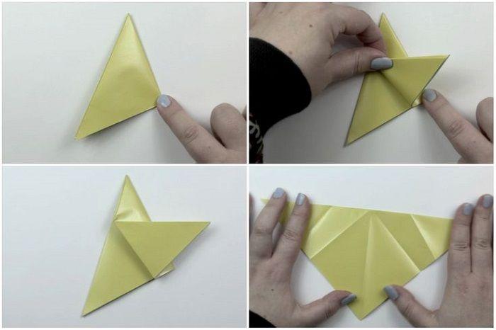 Как сложить из бумаги пентакль: шаги 5-8