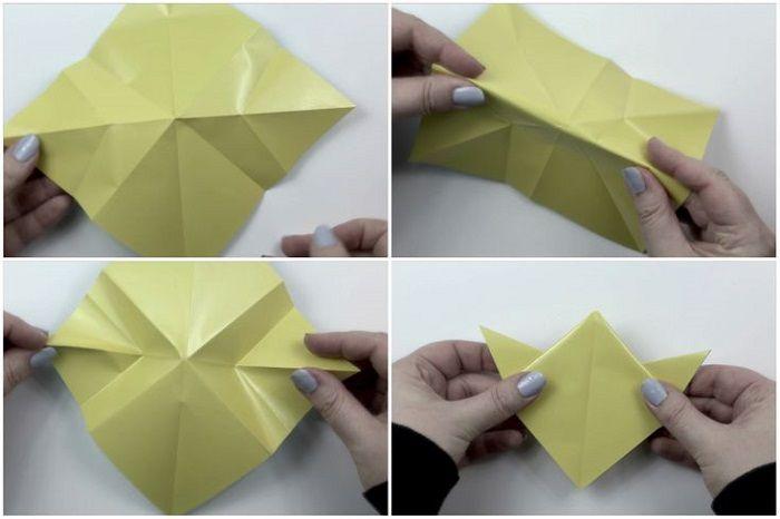 Как сложить из бумаги пентакль: шаги 9-12