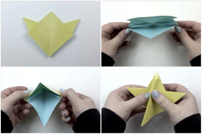 Пентакль оригами: шаги 13-16