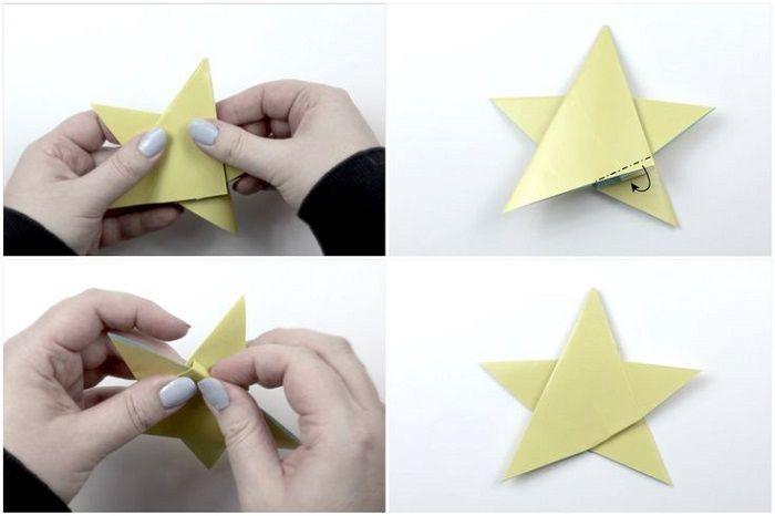 Пентакль оригами: шаги 17-20