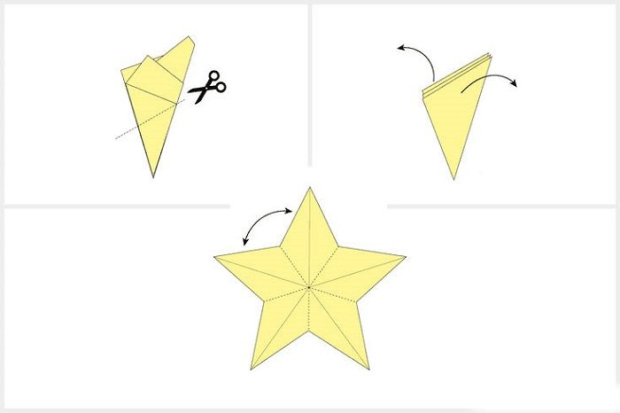 Объемная звездочка из бумаги