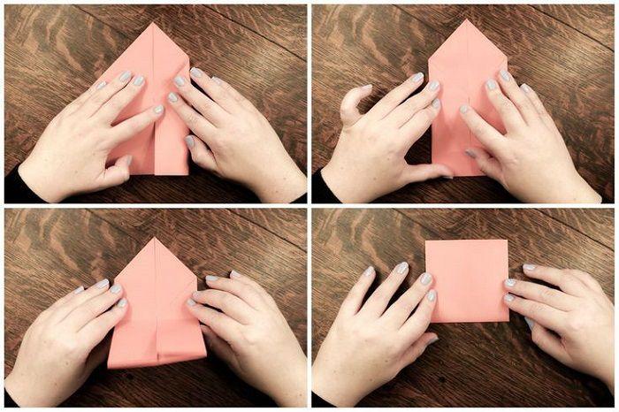 Простая рыбка из бумаги: этапы 5-8