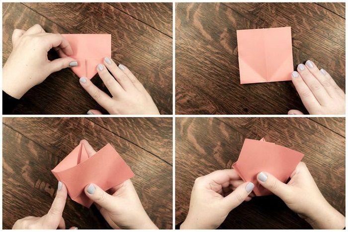 Простая рыбка из бумаги: этапы 9-12