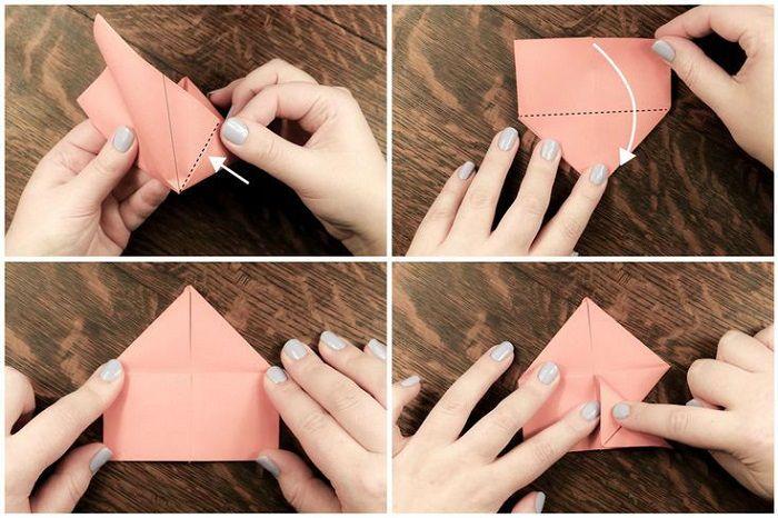 Простая рыбка из бумаги: этапы 13-16