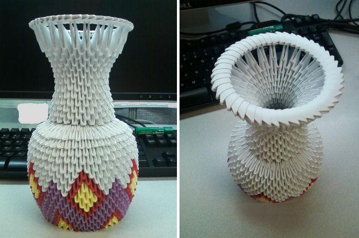 Готовая модульная ваза