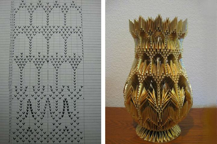 Схема резной вазы