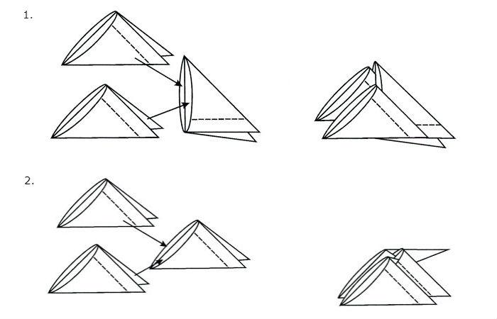 Схема сборки простой вазы (рис. 2)