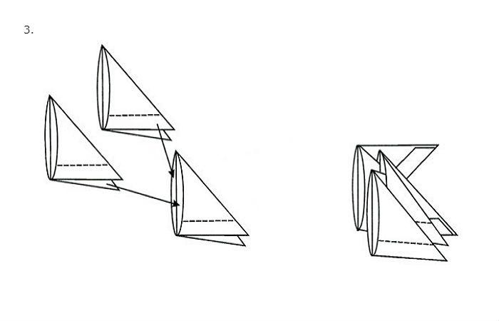 Схема сборки простой вазы (рис. 3)