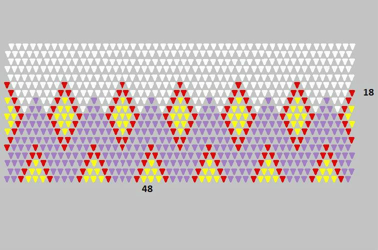 Схема сборки «тела» вазы-оригами