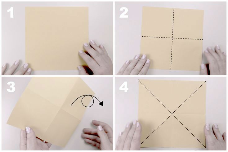 Звёздчатый октаэдрСхема сборки, шаг 1