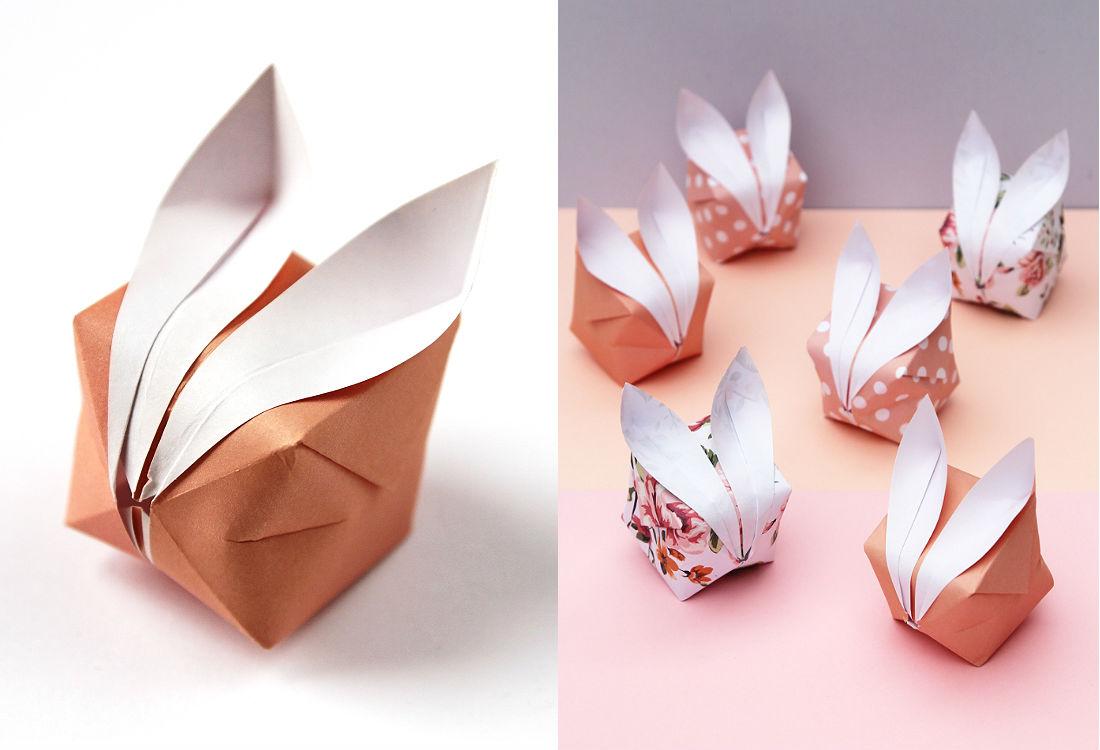 Декоративный кролик из бумаги