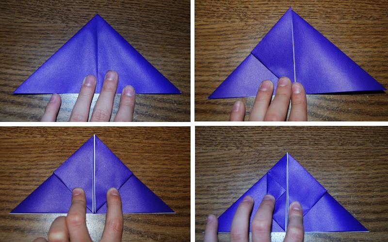 Бумажная рыбка: схема сборки, шаг 1