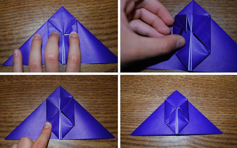 Бумажная рыбка: схема сборки, шаг 3
