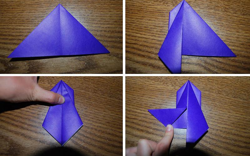 Бумажная рыбка: схема сборки, шаг 4
