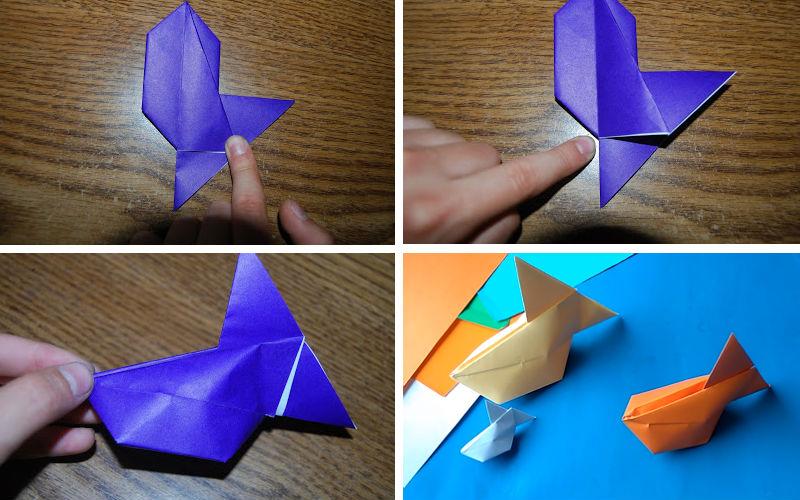 Бумажная рыбка: схема сборки, шаг 5