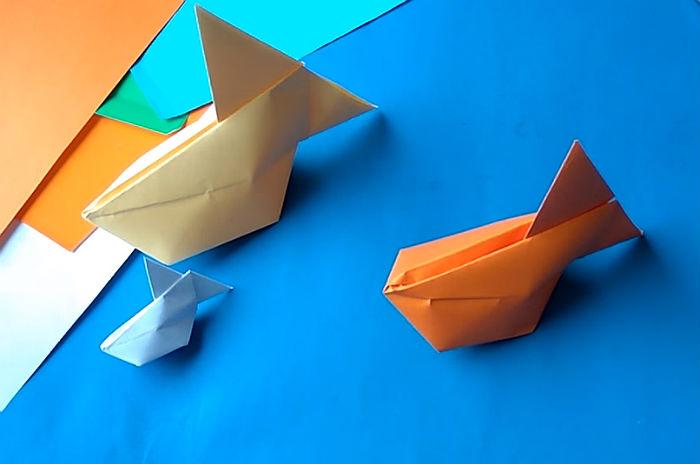 Бумажная рыбка для начинающих